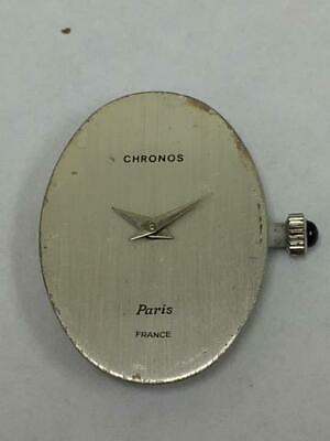 Rare French Chronos Mechanical Wristwatch Movement And Dial And Hands