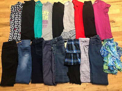 Back To School Girl Clothes 8 Fall/Winter Clothes Outfit Lot 18 pieces.