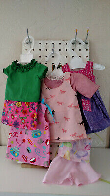 "18"" Journey Girls - Lot #1 Pink Summer Outfits by Dressmaker - 8 pieces"