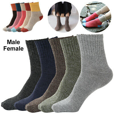 5Pairs Men & Women Warm Thermal Socks Heavy Duty Hiking Boots Cotton Thick Socks