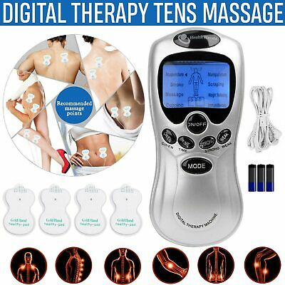 Digital Full Body Massager Vibration TENS Machines Therapy Pain Relief W/4 Pads