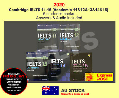 IELTS Books 11-14 (Academic) Four Student's Book with Answers with Audio