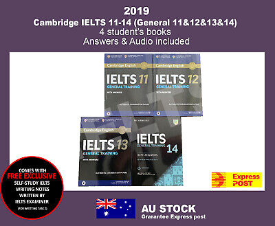 IELTS Books  11-14 (General) Four Student's Book with Answers with Audio