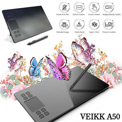 Graphics Drawing Tablet A50 Digital Drawing Tablet 10x6 Inches Art Design Pad
