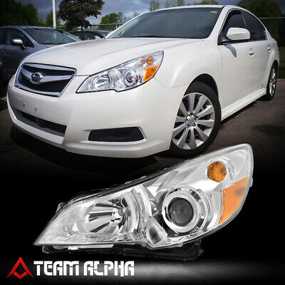 Fits 2010-2014 Outback/Legacy[LH Driver Side]Chrome Projector Headlight Headlamp
