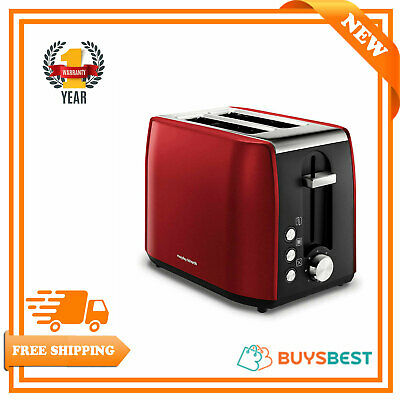 Morphy Richards 2 Slice Toaster Stainless Steel Red 222060