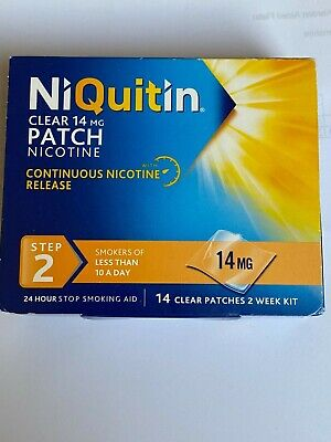 Niquitin Clear Step 1 and 2 14 clear patches 2 Week Kit
