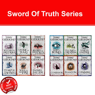 Sword Of Truth Series Terry Goodkind 1-12 Books Collection Set Fantasy Pack NEW