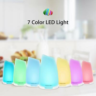 100ml HOMASY Ultrasonic Essential Oil Diffuser Cool Mist Aroma Humidifier 7 LED