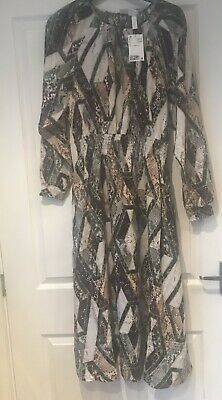 Brand New With Tags On H&m Animal Print Dress Size M