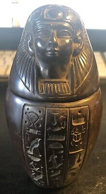 Antique Egyptian Art Deco Canopic Jar