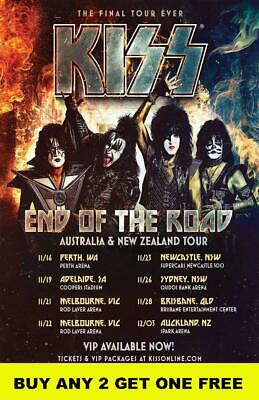 KISS 2019 'End Of The Road' Laminated Australian Tour Poster