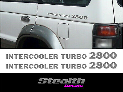 Mitsubishi intercooler turbo 2800 Shogun pajero sticker/decal Premium Quality x2