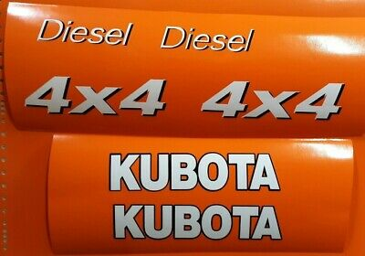 Kubota Utility Vehicles  side by side Replacement 6 decals set  white & black