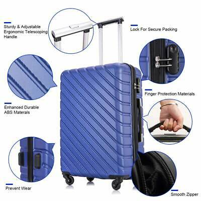 4 Piece Spinner Luggage Set Lightweight Hardside Suitcase Carry On ABS Trolley