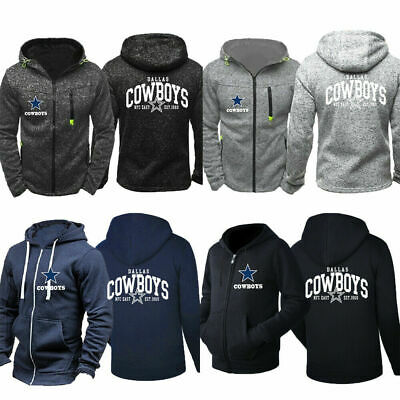 Dallas Cowboys Men Sweatshirt Hoodie Hooded Coat Jacket Top Football Fans Gift