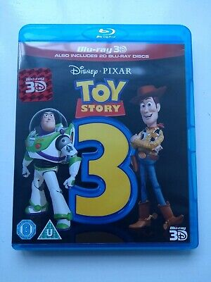 Toy Story 3 (3D Blu-ray, 2011) 3 disc set Includes 2D Blu-ray and Bonus Disc