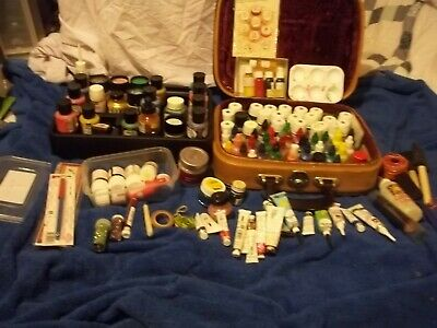 Job Lot Huge Collection Of Silk Paints++Old & At Least 100 Pieces