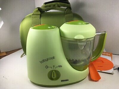 Beaba Babycook Pro Baby Food Maker & Steamer w Travel Case