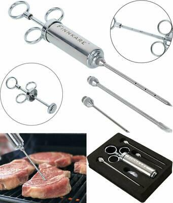 Stainless Steel Meat Injector Marinade Flavor Syringe Needle BBQ Cooking Kit
