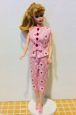 Handmade Dress Fits 11 1/2 Dolls Such As Barbie Repro,Vintage,Silkstone Bodice