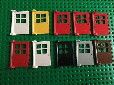 3 x Black Doors and Windows with Police // Blind 1x4x5 Studs Lego GMT128