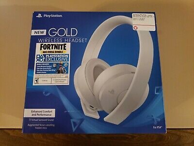 NEW Sony PlayStation Gold Wireless Stereo Headset PS4 White