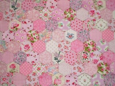"FAT QUARTER PATCHWORK CRAFT PIECE FABRIC 18/"" X 22/"" LAURA ASHLEY GOSFORD PLUM"