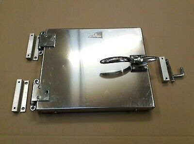 "High Vacuum Chamber Insulated Stainless Steel Door W13""xH11"" and 40mm thick"