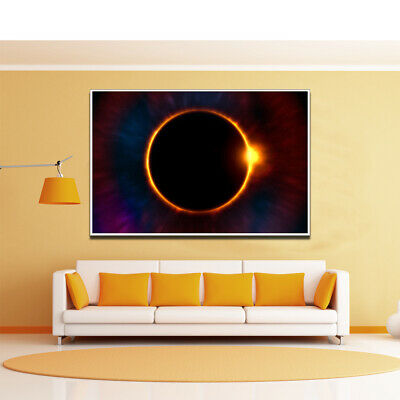 Abstract Solar Eclipse Canvas Poster Living Room Office Home Wall Art Decoration