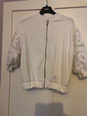 Girls White Next Floral Jacket Age 12 From Next