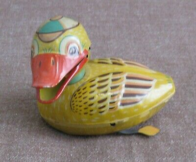 Vintage Friction Tin Toy Quacking Duck
