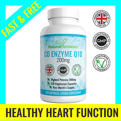 Co Enzyme Q10 CoQ10 200mg 120 Capsules HIGH STRENGTH Energy Heart Supplement