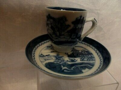 Chinese-Style Demi-Tasse Cup and Saucer , Mottahedeh China