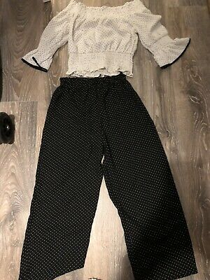 Girls River Island Top & Trouser Set Age 9-10 Years