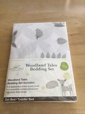 Woodland Tales Cot / Toddler Bed Bedding  Set.                    f