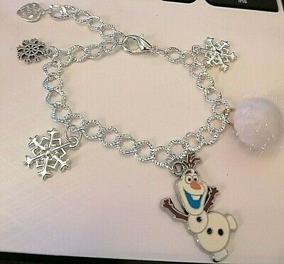 Disney Frozen Olaf and Snowball Bracelet Silver  Adustable Jewellery Xmas Gift