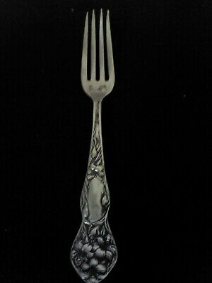 """Antique 1909 Stratford Silver Co AXI Lilyta Silverplate Fork 6-1/8"""""""