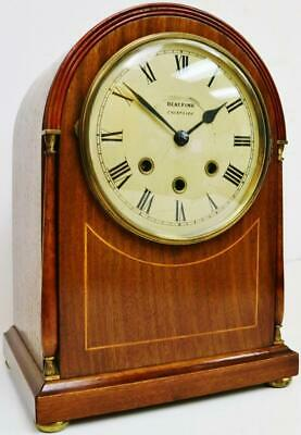 Antique German 8 Day Mahogany Westminster Chime Musical Bracket/Mantel Clock