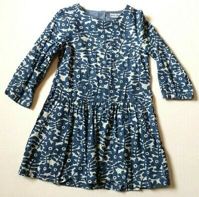 """Mini Boden Girls Dress Or Tunic Top -Size 9 - 10 Y -- 25"""" Length Blue Flowers"""