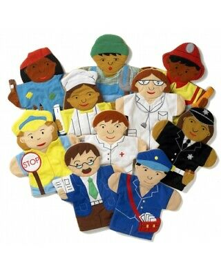 EQD People who help us - Hand Puppets Set