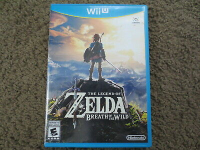 The Legend of Zelda: Breath of the Wild Nintendo Wii U COMPLETE Game+Case botw