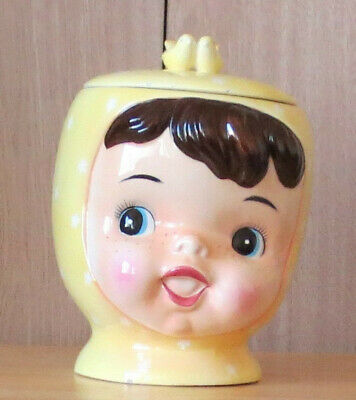 Antique Mid-Century Decor 1940's Ceramic Figural Cookie Jar Beautiful Shape!
