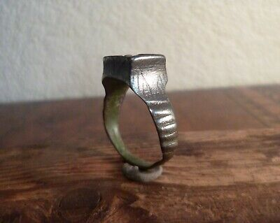 Amazing Medieval Tower Ring With Engravings-Metal Detecting Find