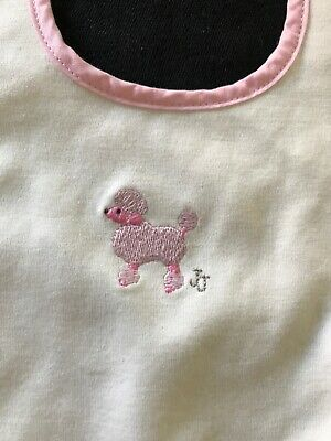 Janie and Jack NWT Reversible Pink Poodle Bib - One Size