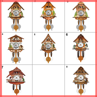 Antique Cuckoo Wall Clock Bird Time Bell Swing Alarm WOODEN Watch Home Art Decor