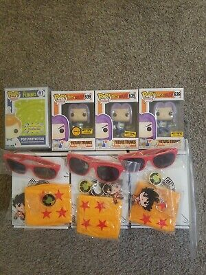 Funko Pop! Future Trunks CHASE *Exclusive* ALL Contents+ HARD STACK PROTECTOR
