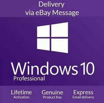 1min delivery Microsoft Windows 10 Pro Professional 32/64bit Genuine License Key