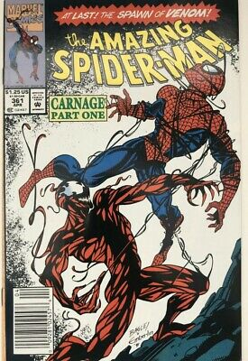 The Amazing Spider-Man #361 (Apr 1992, Marvel) 1st Print & Appearance of Carnage