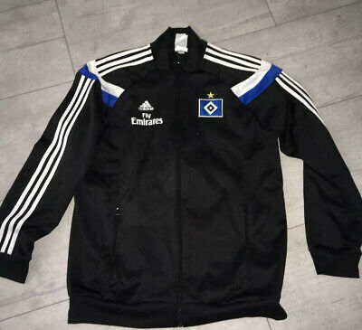 HSV ADIDAS ANTHEM JACKE Gr L Hamburger SV Matchworn Team